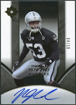 2006 Upper Deck Ultimate Collection Gold #250 Thomas Howard Autograph 4/10