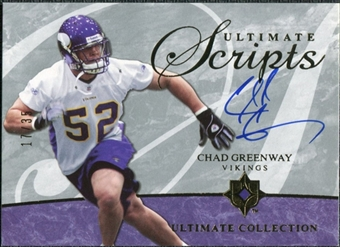 2006 Upper Deck Ultimate Collection Ultimate Scripts #USCCG Chad Greenway Autograph /35
