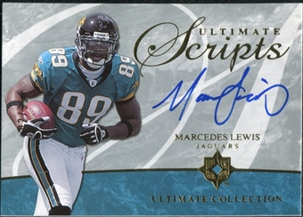 2006 Upper Deck Ultimate Collection Ultimate Scripts #USCML Marcedes Lewis Autograph /35