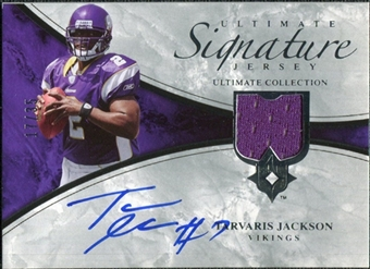 2006 Upper Deck Ultimate Collection Game Jersey Autographs #ULTAD Tarvaris Jackson Autograph /35