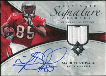2006 Upper Deck Ultimate Collection Game Jersey Autographs #ULTMS Maurice Stovall Autograph /35