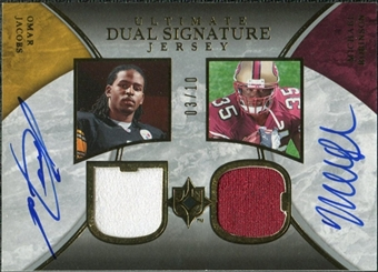 2006 Upper Deck Ultimate Collection Game Jersey Autographs Dual #JR Omar Jacobs Michael Robinson 3/10