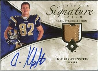 2006 Upper Deck Ultimate Collection Game Jersey Autographs Patch #ULTJK Joe Klopfenstein Autograph /15