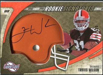 2006 Upper Deck Sweet Spot Gold Rookie Autographs #219 Travis Wilson Autograph /100