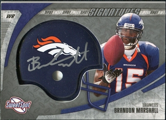 2006 Upper Deck Sweet Spot Signatures #BM Brandon Marshall Autograph