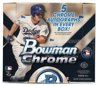 2015 Bowman Chrome Baseball Jumbo Box