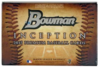 2015 Bowman Inception Baseball 8-Box Hobby Case - DACW Live @ National  28 Team Random Break