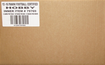 2015 Panini Certified Football Hobby 12-Box Case