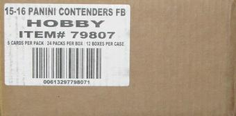 2015 Panini Contenders Football Hobby 12-Box Case