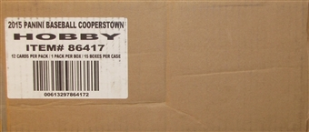 2015 Panini Cooperstown Baseball Hobby 15-Box Case