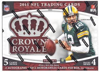 2015 Panini Crown Royale Football Hobby 12-Box Case- DACW Live 32 Team Random Break #2