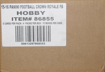 2015 Panini Crown Royale Football Hobby 12-Box Case