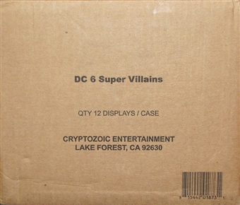 DC Comics Super-Villains Trading Cards 12-Box Case (Cryptozoic 2015)