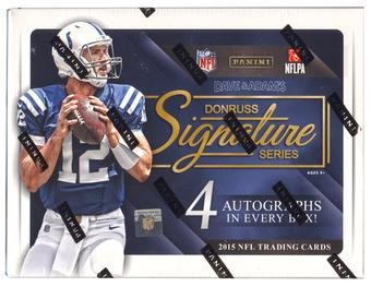 2015 Panini Donruss Signature Series Football Hobby Box