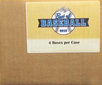 2015 Leaf Best Of Baseball Hobby 4-Box Case