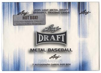 2015 Leaf Metal Baseball Hobby HOT Box (7 Colored Prismatic Parallels #'d to 50!)