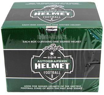 2015 Leaf Autographed Full Size Helmet Football Hobby Box