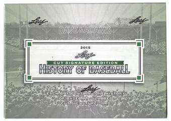 2015 Leaf History of Baseball Cut Signature Edition Baseball
