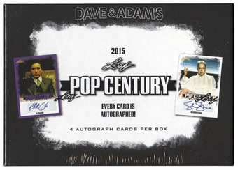 2015 Leaf Pop Century Hobby Box