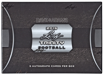 2015 Leaf Trinity Football Hobby Box