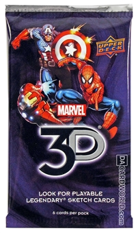 Marvel 3D Hobby Pack (Upper Deck 2014)