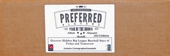 2015 Onyx Preferred Players Collection National Edition Baseball Hobby 3-Box Case