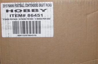 2015 Panini Contenders Draft Picks Football Hobby 12-Box Case