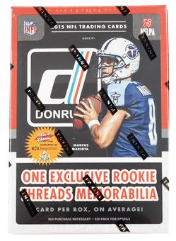 2015 Panini Donruss Football 7-Pack Box (Lot of 5) (One Rookie Memorabilia Card Per Box!)