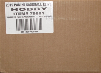 2015 Panini Elite Baseball Hobby 12-Box Case