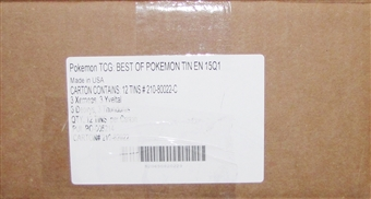 2015 Pokemon Best Of Collector's 12-Tin Case