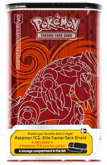 2015 Pokemon Primal Groudon/Kyogre Elite Trainer Deck Shield Tin (Red/Blue)