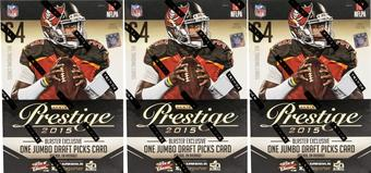 2015 Panini Prestige Football 8-Pack Box (Lot of 3)