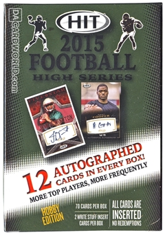 2015 Sage Hit High Series Football Hobby Box
