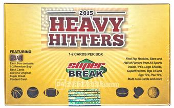 2015 Super Break Heavy Hitters Holiday Edition Hobby 3-Box Case