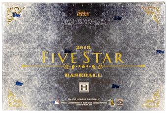 2015 Topps Five Star Baseball Hobby 8-Box Case- DACW Live 30 Spot Random Team Break #12