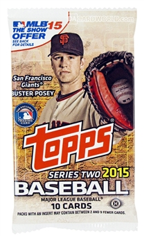 2015 Topps Series 2 Baseball Hobby Pack
