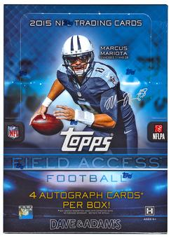 2015 Topps Field Access Football Hobby 12-Box Case- DACW Live 30 Spot Random Team Break #4