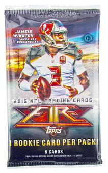 2015 Topps Fire Football Hobby Pack