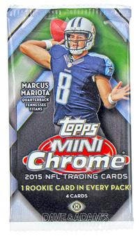 2015 Topps Mini Chrome Football Hobby Pack