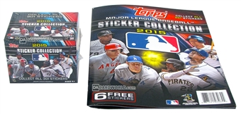 2015 Topps Baseball MLB Sticker Collection Box + Album