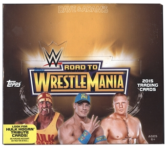 2015 Topps WWE Road to Wrestlemania Wrestling Hobby Box