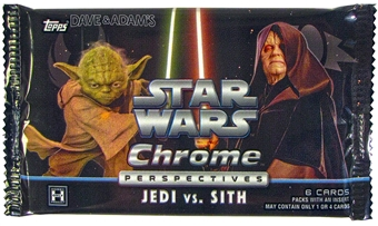 Star Wars Chrome Perspectives: Jedi Vs. Sith Hobby Pack (Topps 2015)