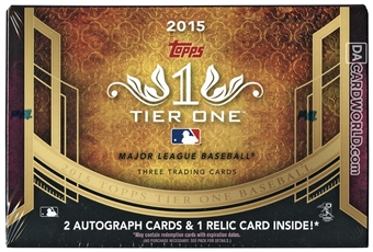 2015 Topps Tier One Baseball Hobby Case - DACW Live 30 Spot Random Team Break #6