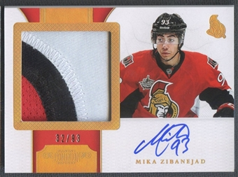 2011/12 Dominion #194 Mika Zibanejad Horizontal Rookie Patch Auto #32/93