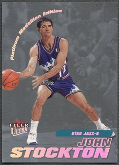 2000/01 Ultra #134 John Stockton Platinum Medallion #50/50