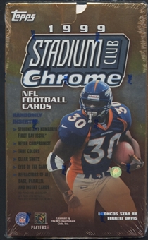 1999 Topps Stadium Club Chrome Football Retail Box