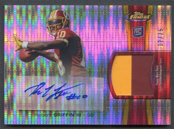 2012 Finest #RAPRG Robert Griffin III Pulsar Refractor Rookie Patch Auto #12/25