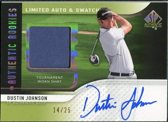 2012 Upper Deck SP Authentic Limited Rookie Autograph Swatches #117 Dustin Johnson 14/25