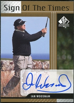 2012 Upper Deck SP Authentic Sign of the Times #STIW Ian Woosnam E Autograph