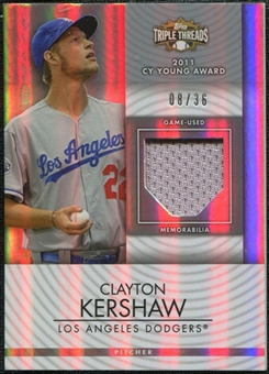 2012  Topps Triple Threads Unity Relics #UR96 Clayton Kershaw 08/36